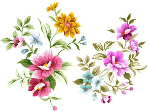 free floral images psd layered file of hand drawn flowers unit 117