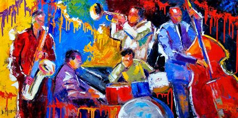 jazz artists biography original abstract jazz art music painting musical