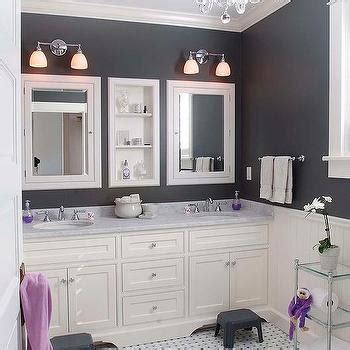 lavender and black bathroom interior design inspiration photos by papyrus home design