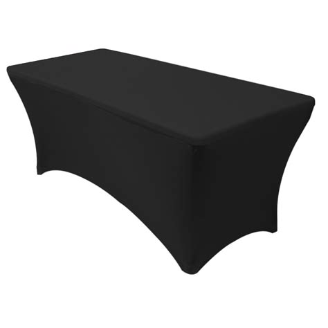 Stretch Spandex 6 Ft Rectangular Table Cover Black Your