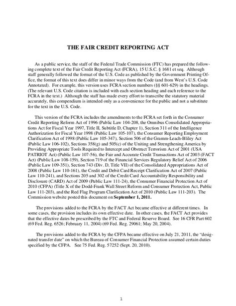 Credit Dispute Letter Fair Credit Reporting Act Fair Credit Reporting Act Fcra Sections 616 And 617 Are Enforceme