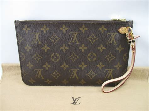 Louis Vuitton 100 Real Picture 4 100 authentic louis vuitton pochette wristlet clutch monogram neverfull ebay