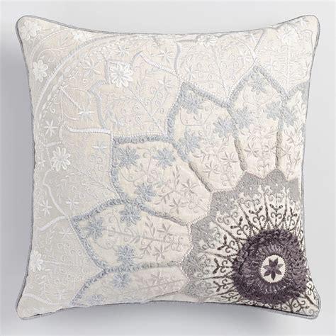 Gray Throw Pillows Gray Starburst Throw Pillow World Market