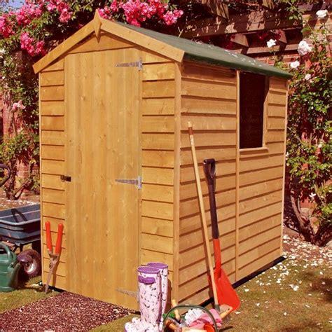 shire overlap 6x4 apex shed single door