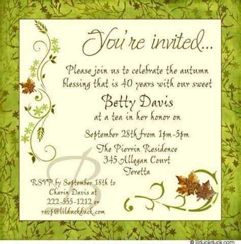 Invitation For Birthday Quotes 40th Birthday Invitation Wording