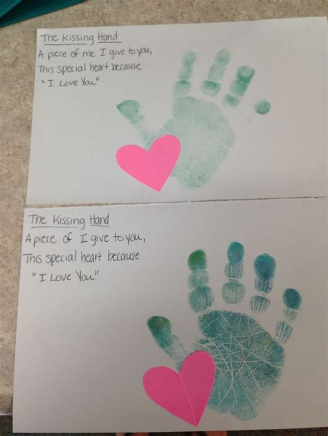 kindergarten activities with construction paper the kissing hand poem washable ink pad and construction