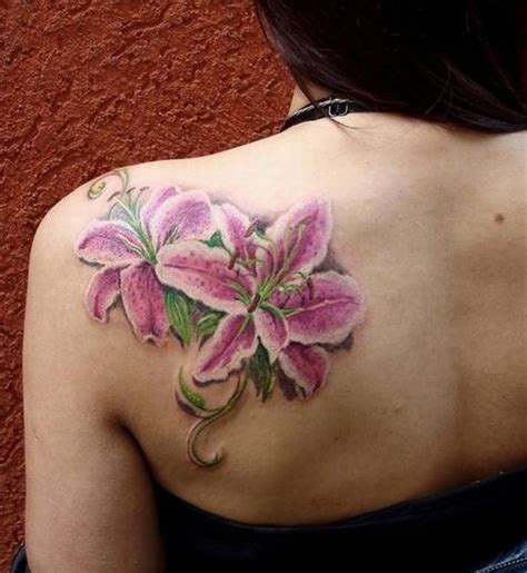 lily shoulder tattoo designs 64 stargazer tattoos ideas
