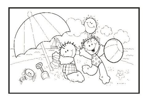 dibujos infantiles para colorear del verano dibujos del verano para imprimir y colorear