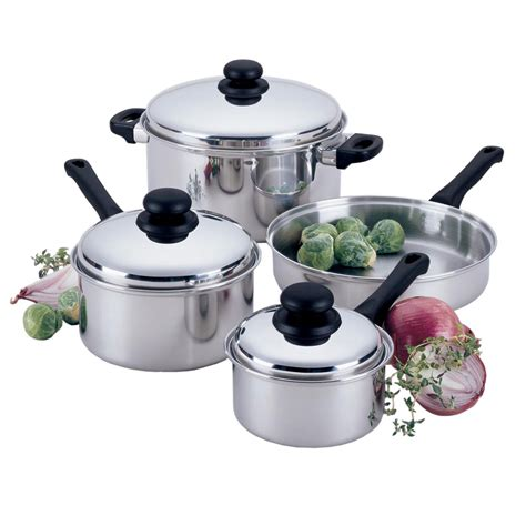 the domestic front kitchen essential cookware and bakeware focus kpw9007 7 piece focus stainless steel cookware set w