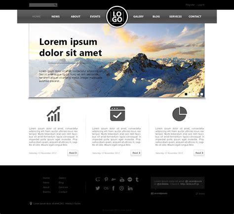 designed psd website templates