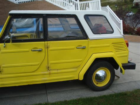volkswagen thing yellow seller of cars 1973 volkswagen thing yellow black