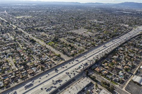refacing san fernando valley golden state 5 freeway in the san fernando valley stock