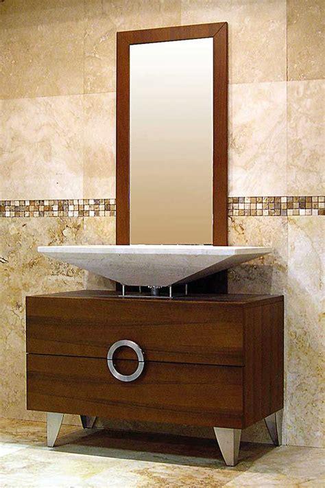 arredo bagno legno naturale mobile arredo bagno con lavabo in marmo modello quot linari
