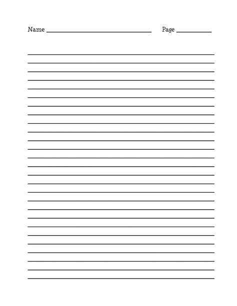 student writing paper template lined paper for writing activity shelter notebook