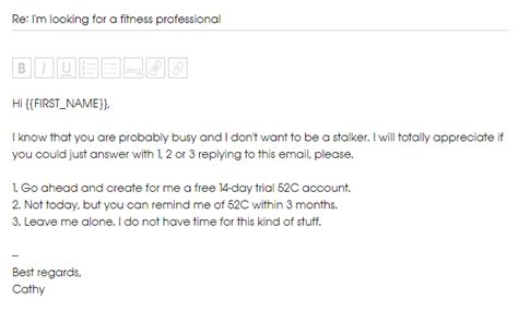 Should I Give My Cold Email Addressee A Way To Opt Out Keep In Touch Email Template
