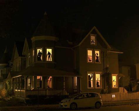 spooky diy halloween decor haunted house silhouettes