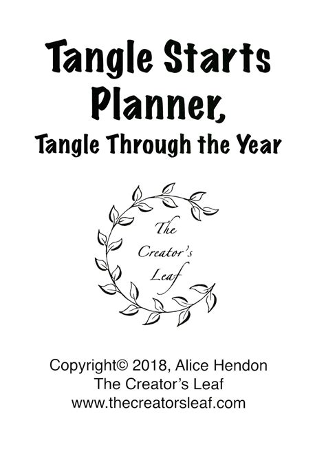 tangle starts planner tangle through the year artangleology volume 2 books review tangle starts planner tangle through the year