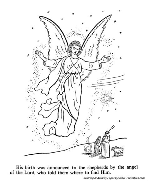 angels shepherds gloria coloring page thecahtolickid the birth of jesus coloring page 3 painting templates