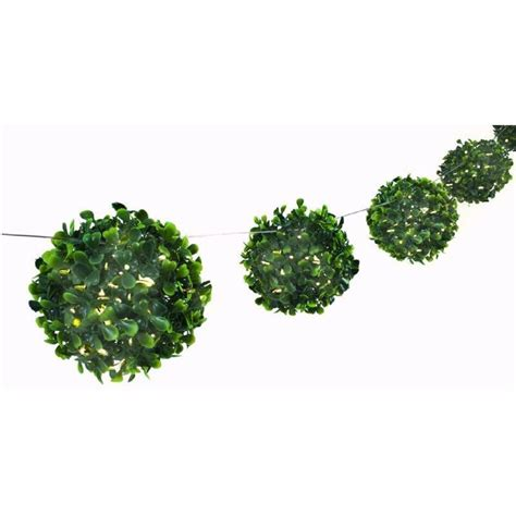 artificial topiary balls with solar lights 8pk topiary ball solar string lights warm glow buy