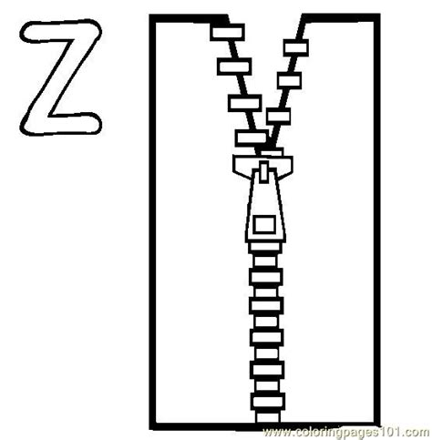 Zip Coloring Page Free Alphabets Coloring Pages