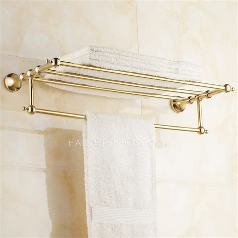brass bathroom shelves brass gold metal wall mounted bathroom towel shelves