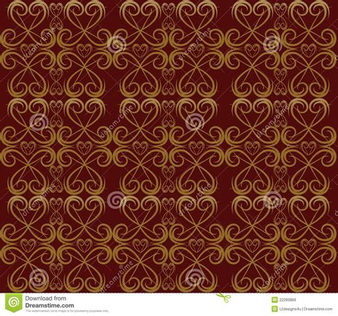 gold red pattern red and gold swirl pattern royalty free stock image