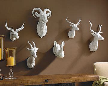 copy cat chic williams sonoma home ceramic animal heads
