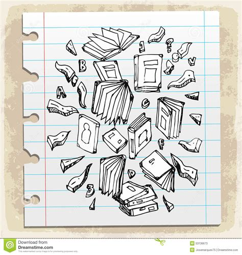 doodle on paper vector of note book vector illustration cartoondealer