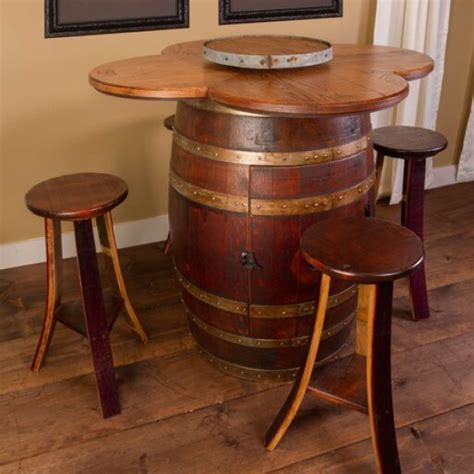 wine barrel table set napa east collection wine country