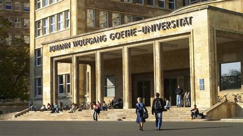Goethe Uni Frankfurt Bewerbung Stand Two Students To Study In Germany On Prestigious