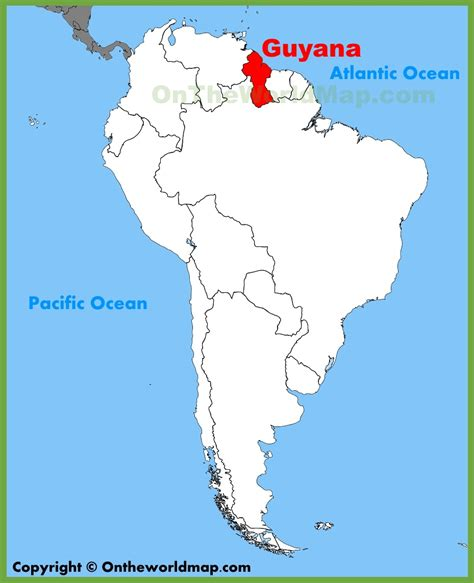 where is guyana on the world map the land guyana