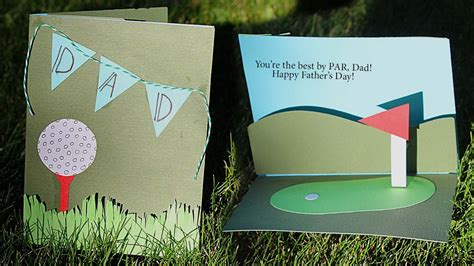 s day card ideas template golf themed pop up card tutorial s day crafts