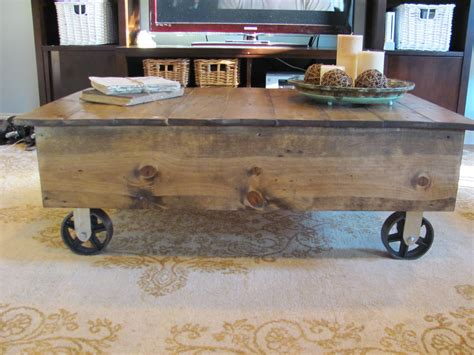 Ana White Factory Cart Coffee Table Diy Projects Diy Cart Coffee Table