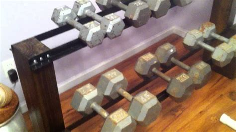 Build Dumbbell Rack by Diy Dumbbell Rack