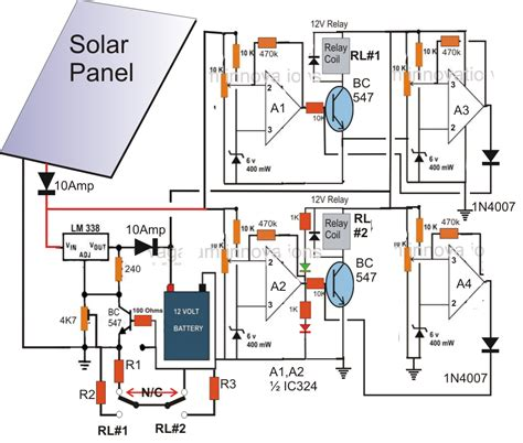 solar panel circuit diagram schematic the wiring and to