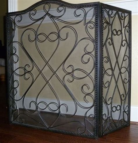 southern living black wrought iron fireplace screen cool