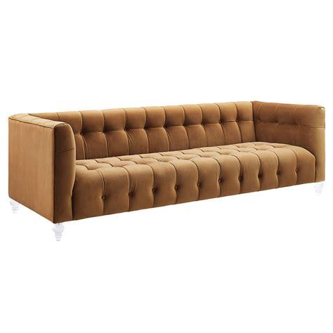 eurway sofa modern sofas badeau velvet cognac sofa eurway