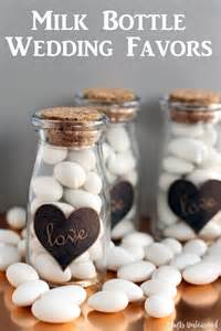 Make Your Own Wedding Favors by Diy Milk Bottle Wedding Favors Crafts Unleashed