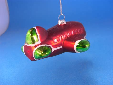 holiday airplane glass christmas ornament cars trains