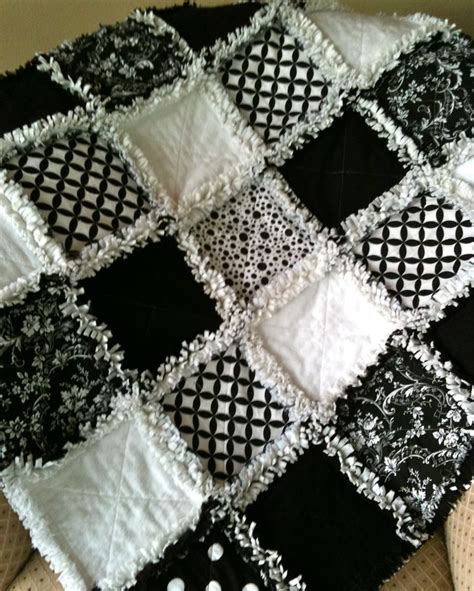 Rag Quilt by Zeedlebeez Black And White Rag Quilts