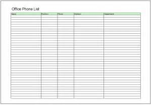 Phone List Template Free by Free Excel Phone List Template Book Covers