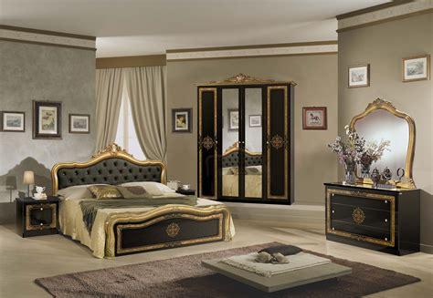 klassisches schlafzimmer klassisches designer schlafzimmer lucia schwarz gold