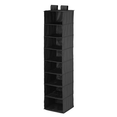 honey can do 8 shelf hanging black organizer sft 01246