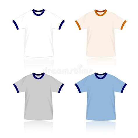 design your own t shirt vector ringer t shirts blank templates stock vector