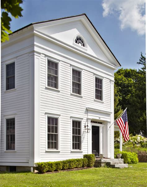 greek revival house greek revival home traditional exterior new york
