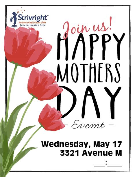 day event mothers day event strivright