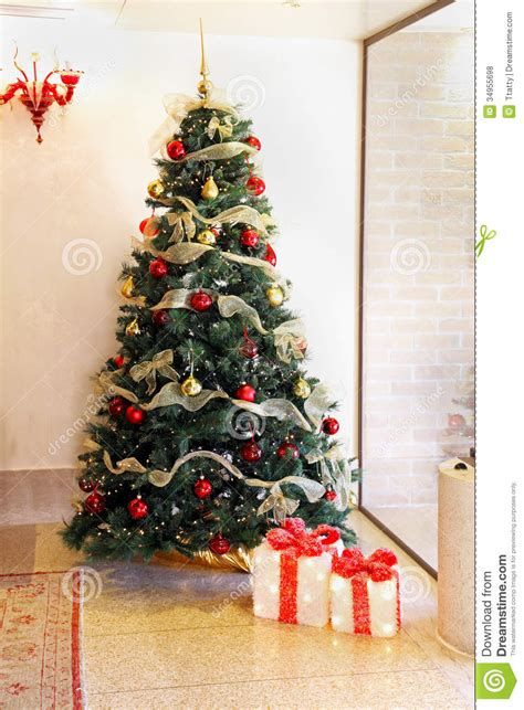 colorful christmas tree royalty free stock photos image