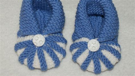 how to knit simple and baby booties diy crafts