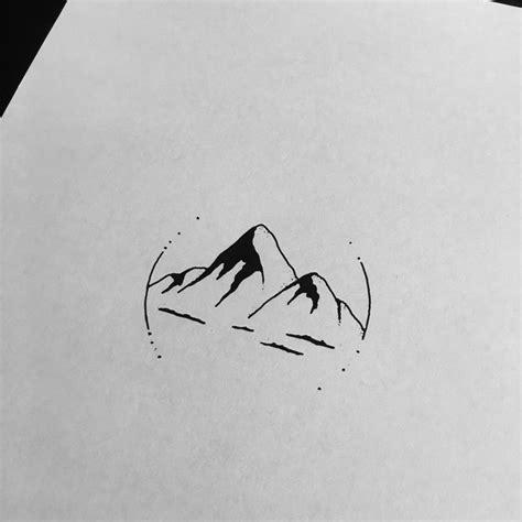 minimalist outline tattoo simple mountain tattoos www imgkid com the image kid