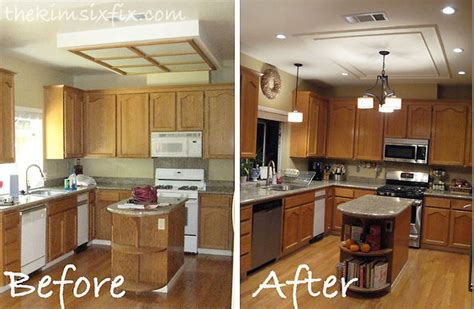 Replacing Kitchen Fluorescent Light Hometalk Replacing Updating Fluorescent Ceiling Box Lights With Ceiling Molding